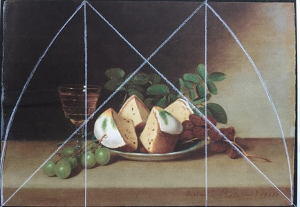 Root Rectangle, plus, of Raphaelle Peale's Still Life with Cake