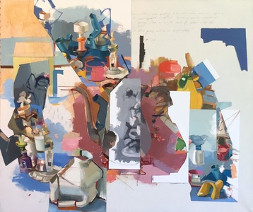 Amy Mahnick 2020-21/Collage Paintings  oil on linen, oil on arches oil paper, pencil