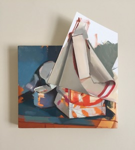 Amy Mahnick 2020-21/Collaged Paintings oil on linen and oil on arches oil paper