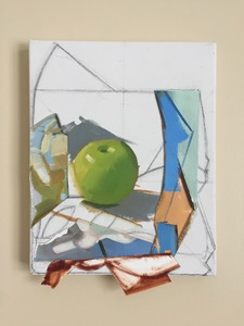 Amy Mahnick 2020-21/Collaged Paintings oil on acrylic primed canvas, oil on arches oil paper