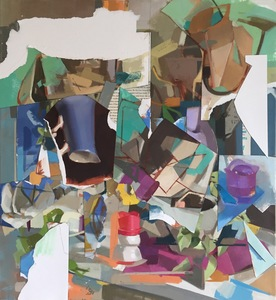 Amy Mahnick 2020-21/Collage Paintings
