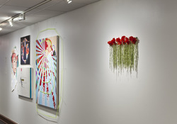 Puking roses (installation view)