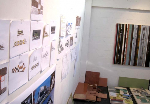 Studio view during design process