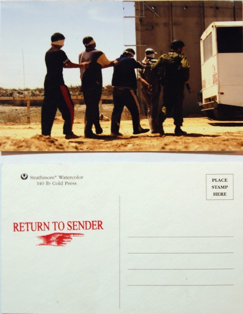 Amy Westpfahl  Return to Sender, 2009 Photographic reproduction, ink stamp on postcard