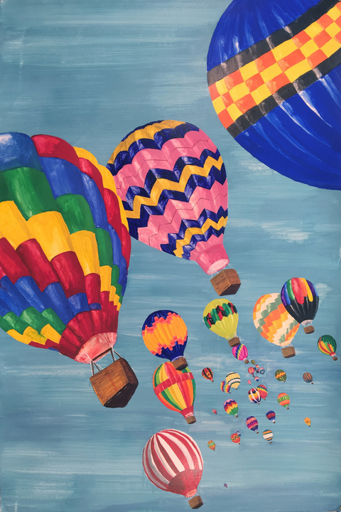 Works on paper USA (Hot Air Balloons)