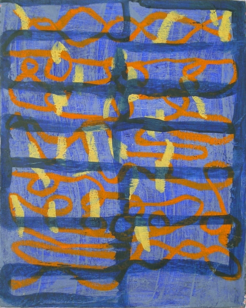 Paintings 2006-2010 Blue Grid
