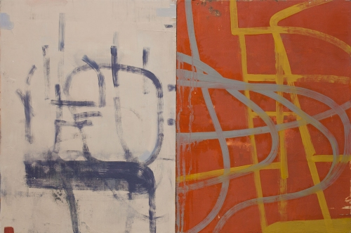 Paintings oil on panel (diptych)