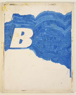 ANDREW BRISCHLER WORK Gesso, marker, and colored pencil on canvas