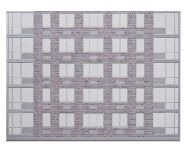 Andrew Moeller Facade Paintings Acrylic and Graphite on Panel