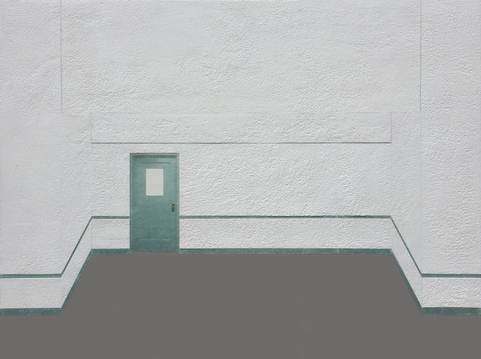 Andrew Moeller Interior Paintings Acrylic and Graphite on Aluminum