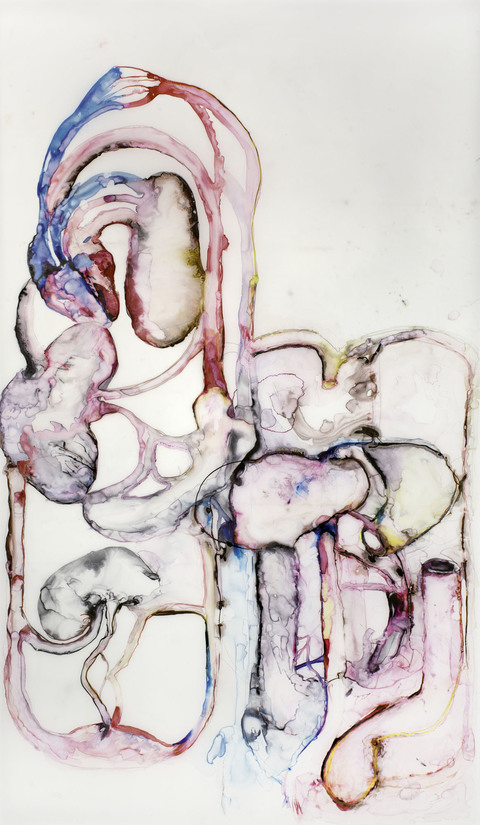 ANITA GLESTA CURRENT WORKS ON PAPER Ink on vellum