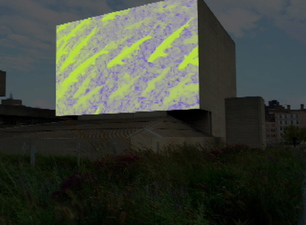 SEPTEMBER 2015 Public Art Projection - WATERSHED at the Royal National Theatre, London