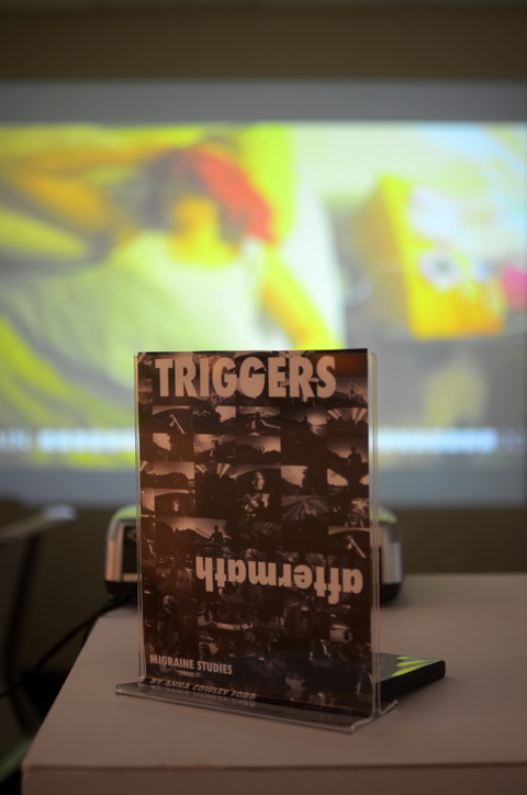 Anna Cowley Ford Triggers/Aftermath Video, projection, intalled at Moberg Gallery, Des Moines, IA