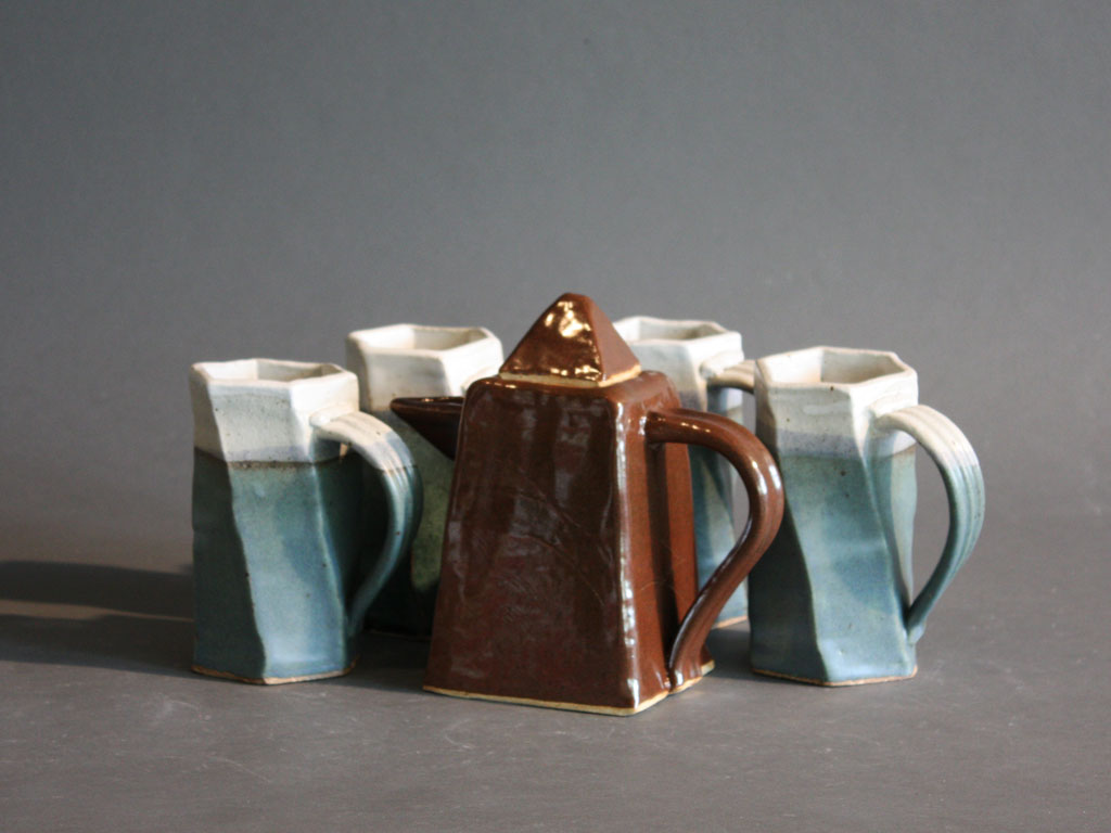 Dinnerware Set, 2011 Cups and Pitcher