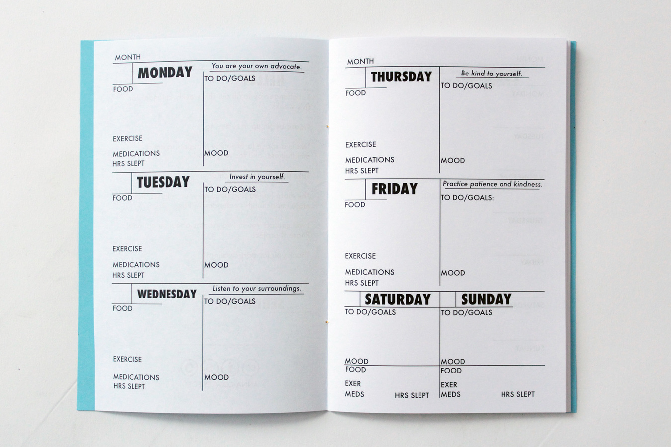 Weekly Calendar/Journal  Weekly Calendar/Journal