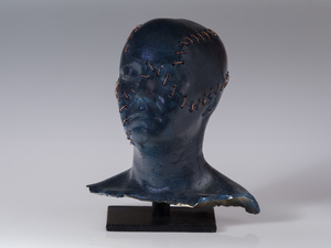 Busts Mid-range ceramics, copper wire