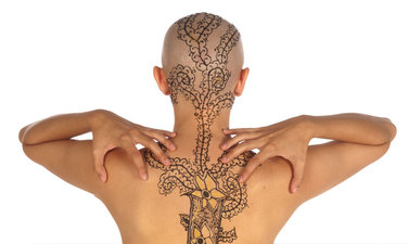 Migraine Pathway Henna, photograph printed on white dibond