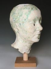Busts Mid-range paper clay, glaze, crushed glass