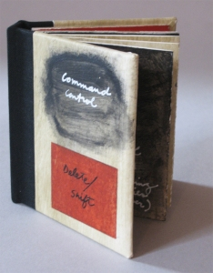 Anne Gilman One-of-a-kind Artist Books one-of-a-kind accordion hardbound book with ink, paint and pencil on hand-stained paper