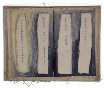 Anne Gilman One-of-a-kind Artist Books mixed media with polymers and dry pigments on canvas (coptic binding with hand dyed thread)