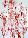 Bloody Scratch Drawings Watercolor