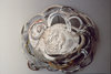 Jewelry (Metals) Chased fine and sterling silver, steel, oil paint, gesso