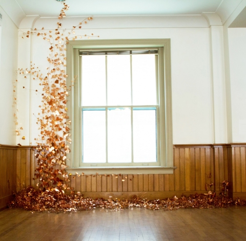 Anne Peabody Lux Aeterna, 2013 : Louisville, Kentucky Copper sheet and wire