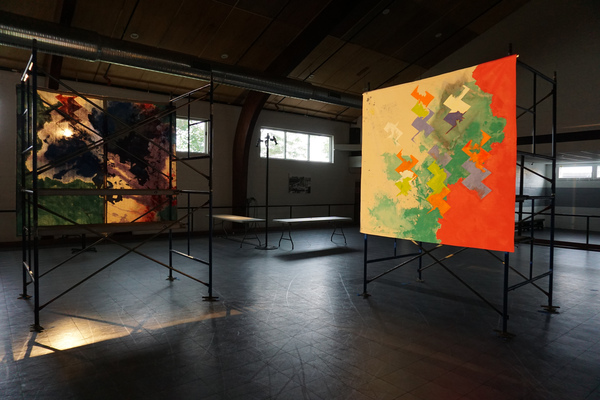 Anne Sherwood Pundyk:  Painting as Theatre of Agency Worlds Within Worlds Installation, Greenport, NY, September 8, 2018