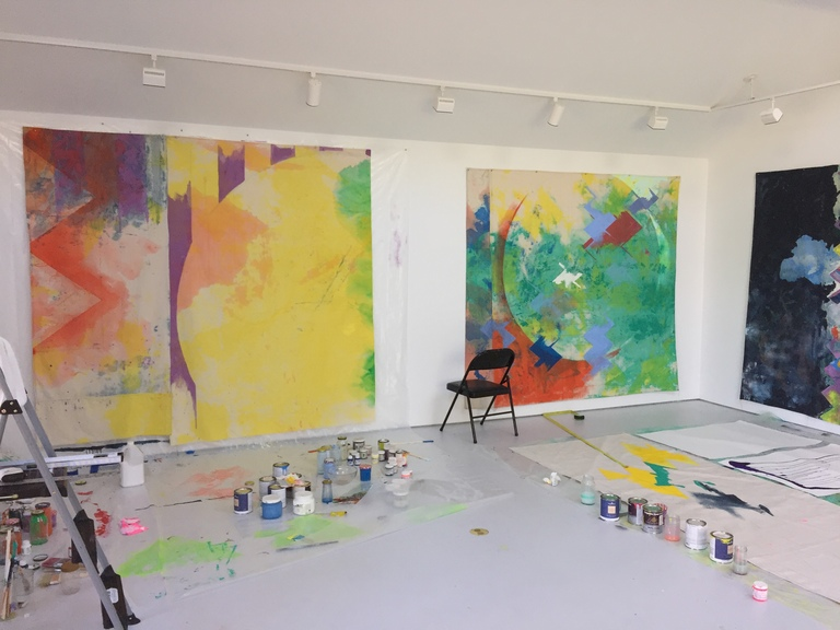 Anne Sherwood Pundyk:  Painting as Theatre of Agency Mattituck Studio, North Fork, November 2014 to Present