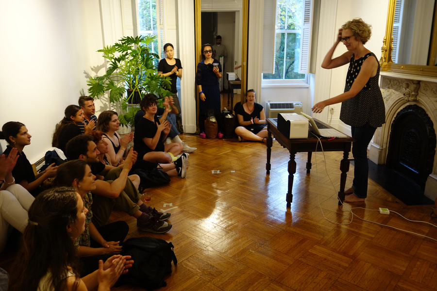 """Numbers and Lines,"" Performance at Launch of The Forgetory issue #3 ANXIETY at Dillon Gallery, NY, August 26, 2016  ""Numbers and Lines,"" Performance at Launch of The Forgetory issue #3 ANXIETY at Dillon Gallery, NY, August 26, 2016"