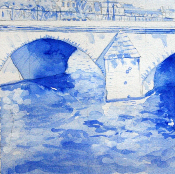 100% Real Painting (Versailles) Le Pont Neuf