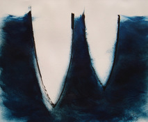 ANNE SEELBACH 1997-2001 Tethered Boats oil on paper