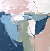 ANNE SEELBACH 1997-2001 Tethered Boats acrylic on wood panel