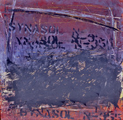 ANNE SEELBACH 1988-1990 Jersey City Relics oil and powder pigment on masonite