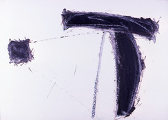 ANNE SEELBACH 1986-1987 The Hunebedden oil stick on paper
