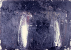 ANNE SEELBACH 1986-1987 The Hunebedden oil on paper