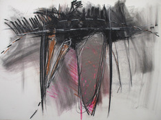 ANNE SEELBACH 1986-1987 The Hunebedden pastel, charcoal on paper