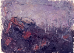 ANNE SEELBACH 1986-1987 The Hunebedden oil on paper,