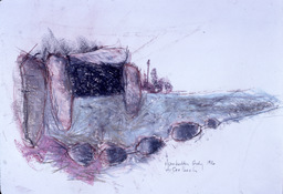 ANNE SEELBACH 1986-1987 The Hunebedden oil stick and conté crayon on paper
