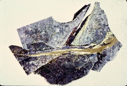 ANNE SEELBACH 1977-1981 Monhegan Rocks acrylic on torn and pasted paper