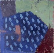 ANNE SEELBACH 1982-1985 House, Enclosure oil and wax on canvas
