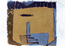 ANNE SEELBACH 1982-1985 House, Enclosure  acrylic on paper