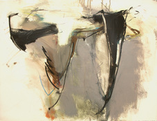 ANNE SEELBACH 1997-2001 Tethered Boats oil, graphite, pastel on paper
