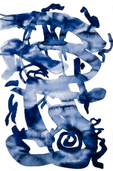 ANNEY BONNEY CANTOS_BLUE Painting Digital Print