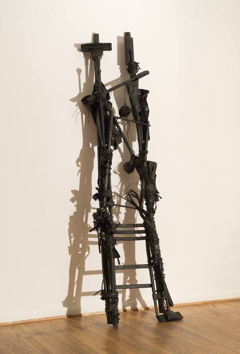 Ladders Mixed media: Found objects and latex paint