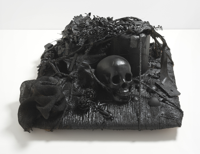 Vanitas Mixed media: Found objects and paint