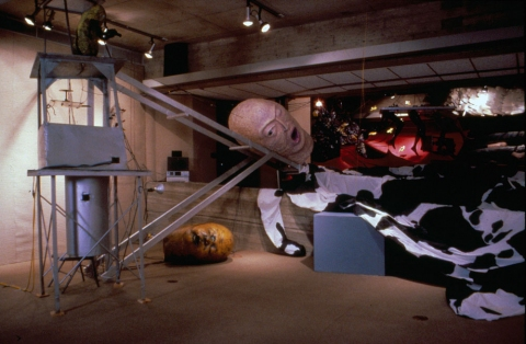ANN STODDARD 1984-1990 : Collaborative installation/performance Mixed media