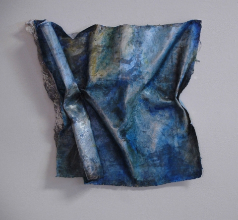 ANN STODDARD  Water Maps oil on manipulated linen, mixed media