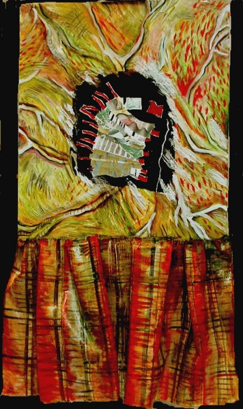 ANN STODDARD Paintings: Plaids and others mixed media