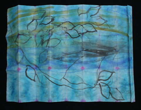 ANN STODDARD  Water Maps Ink, watercolor on rice paper